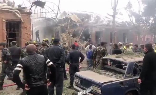 Ermenistan'ın Terter'e saldırısı drone ile görüntünledi