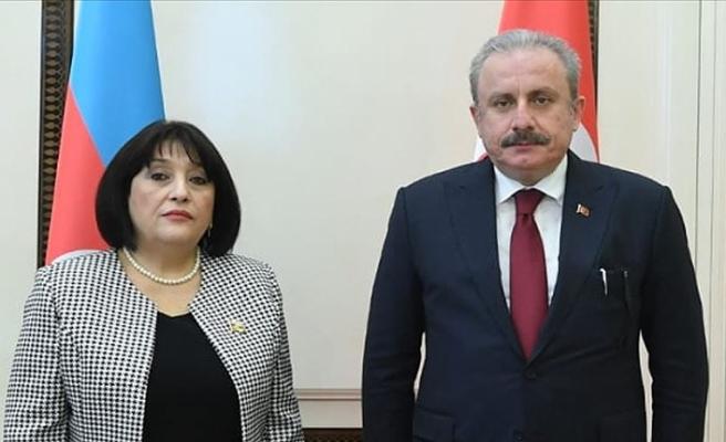 Azerbaycan Milli Meclis Başkanı Gafarova'dan TBMM Başkanı Şentop'a taziye telefonu