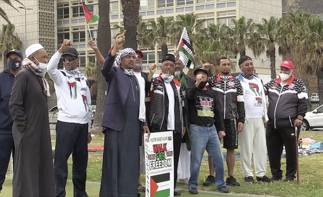 Güney Afrikalılar Filistinliler için yürüdü
