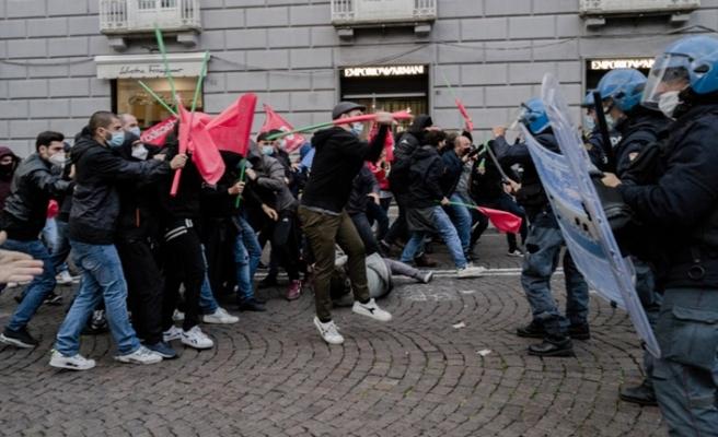 İtalya'da salgın önlemleri protesto edildi
