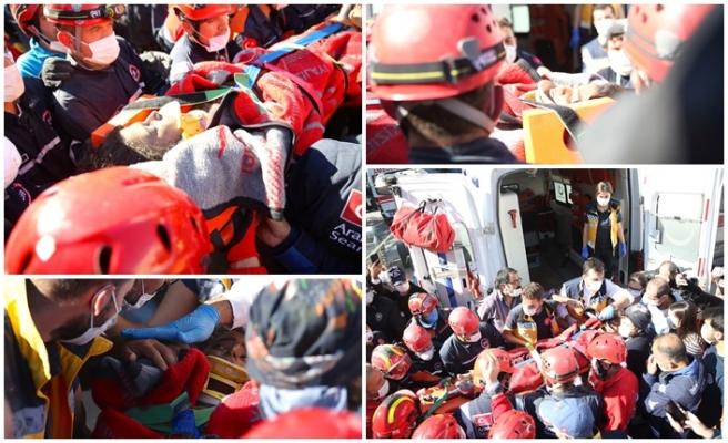 İzmir'de 23 saat sonra mucize kurtuluş