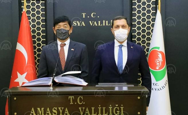 Japonya'nın Ankara Büyükelçisi'nden Amasya ziyareti