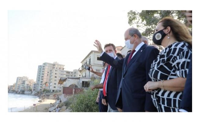 KKTC Başbakanı Ersin Tatar Maraş'ı ziyaret etti