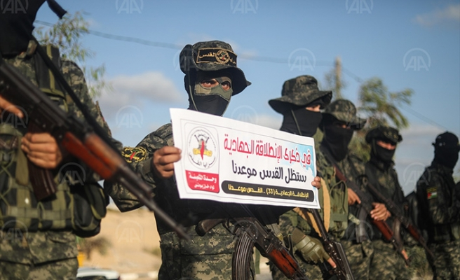 Kudüs Seriyyeleri'nden açlık grevindeki Filistinli tutukluya destek gösterisi