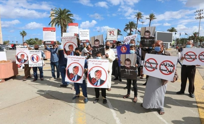 Libya'da Macron yönetiminin İslam düşmanı tutumu protesto edildi
