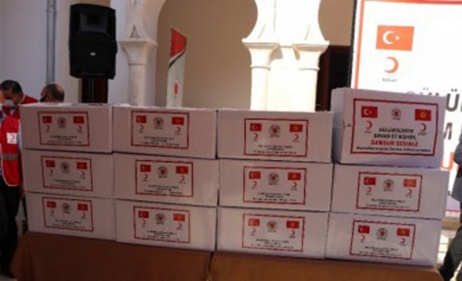 Samsun'dan Bişkek'e 180 bin maske