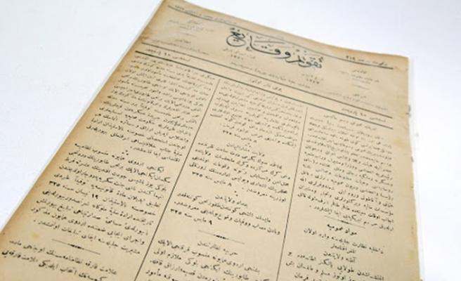 Tarihi yeni, kendisi eski gazete Takvim-i Vekayi