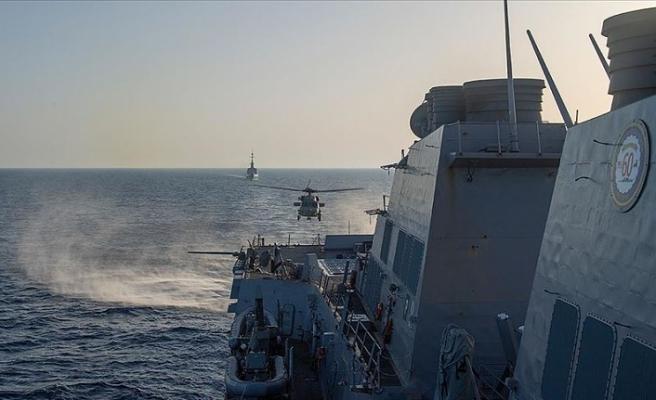 USS Roosevelt ve FS La Fayette fırkateyni Doğu Akdeniz'de ortak tatbikat yaptı