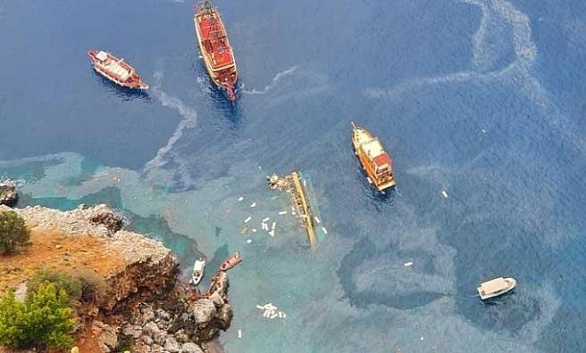 Alanya'da batan tur teknesinin kaptanı adli kontrol şartıyla serbest bırakıldı