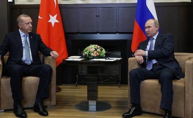 Erdoğan Putin ile  Dağlık Karabağ'ı görüştü