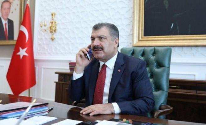 Fahrettin Koca, Türk bilim insanı Prof. Dr. Uğur Şahin ile görüştü