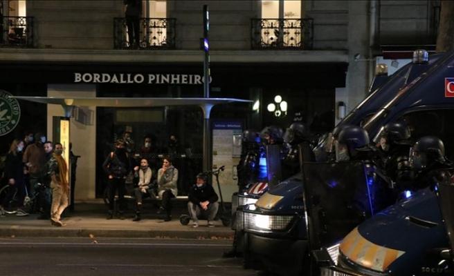 Fransa'da 'güvenlik tasarısı'na protesto! Polis müdahale etti!