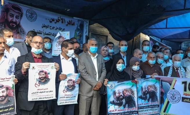 Gazze'de Filistinli tutuklu Ahres'e destek için açlık grevi yapıldı