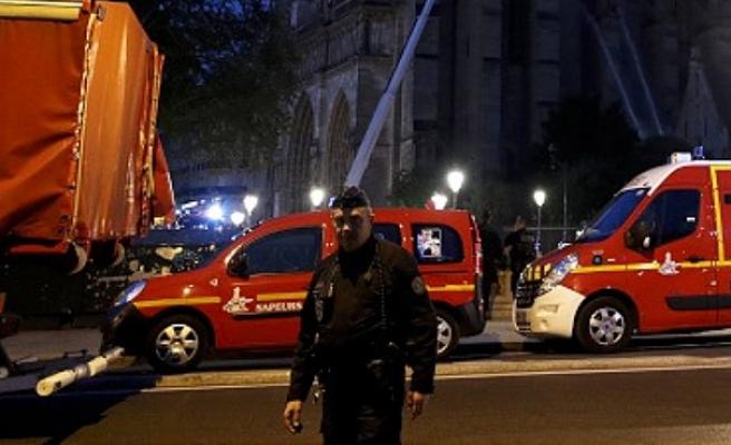 Göçmenlerin kaldığı binada yangın çıktı