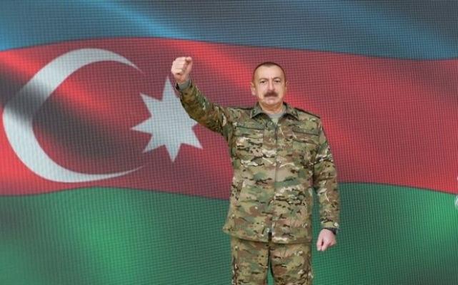 İlham Aliyev cepheye gitti