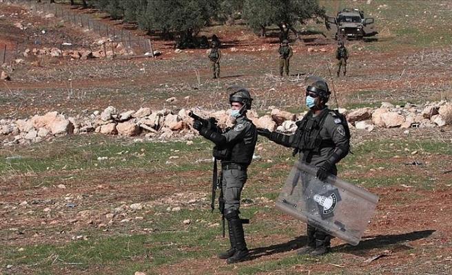 İşgalci İsrail'den gösteriye müdahale