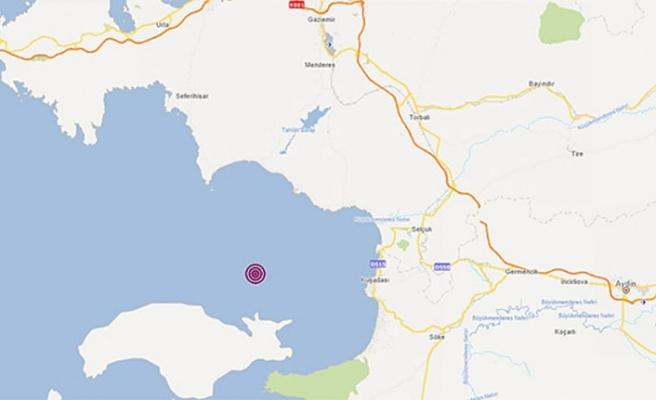 Kuşadası açıklarında 4,8 büyüklüğünde deprem