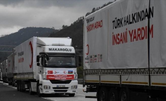 Türk Kızılay Azerbaycan'da acıları dindirmek için çalışıyor