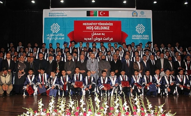 Afganistan'daki Türkiye Maarif Vakfı okullarında mezuniyet heyecanı