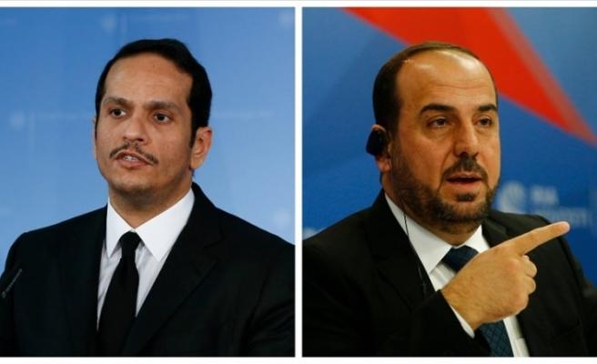 Katar Dışişleri Bakanı Al Sani SMDK Başkanı Hariri ile Suriye krizini görüştü