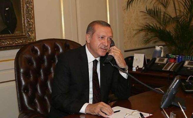 Cumhurbaşkanı Erdoğan Cezayir Cumhurbaşkanı Tebbun ile görüştü