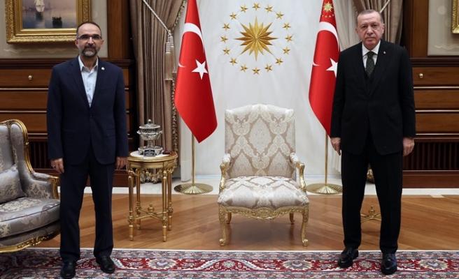 Cumhurbaşkanı Erdoğan, HÜDA PAR Genel Başkanı Sağlam'ı kabul etti