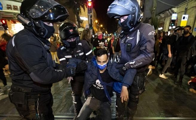 İsrail'de Netanyahu karşıtı gösteride 3 kişi gözaltına alındı