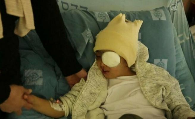 İsrail askerlerinin kör ettiği çocuğun davası kapandı