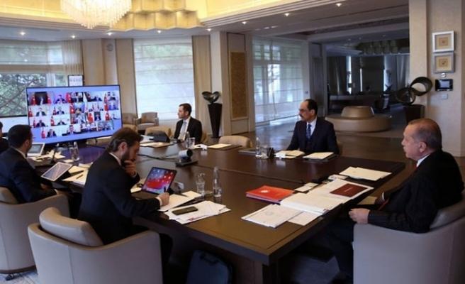 Erdoğan başkanlığındaki kabine toplantısı başladı