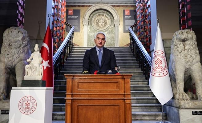 Kültür ve Turizm Bakanı Ersoy, 'Kybele' heykelinin tanıtımını yaptı