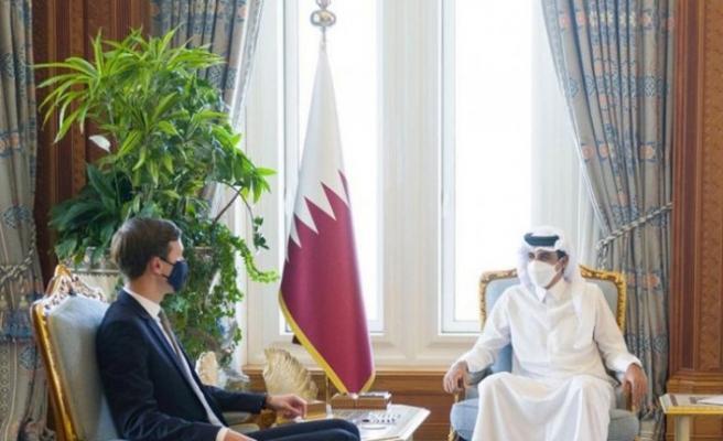 Trump'ın Yahudi damadı Kushner Katar Emiri ile görüştü