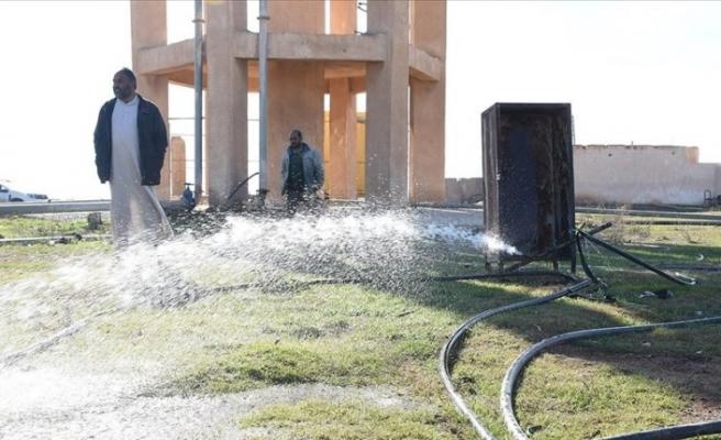 Tel Abyad'da Türkiye'nin desteğiyle 35 köyün suya kavuştu