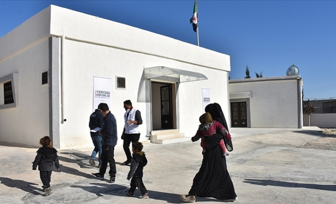 Barış Pınarı bölgesinde Türkiye'nin desteğiyle 11. sağlık merkezi hizmete girdi