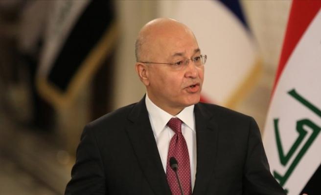 Irak Cumhurbaşkanı Salih'ten bombalı saldırıya dair açıklama