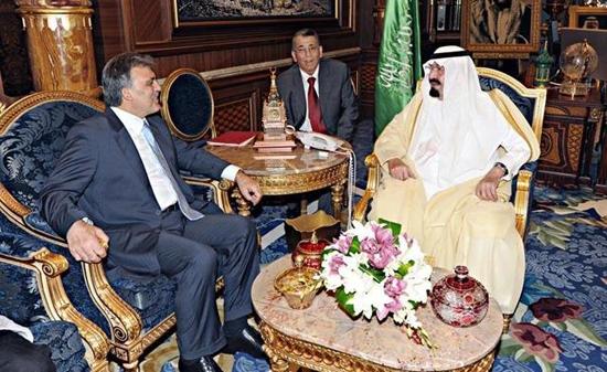 Gül, Kral Abdullah ile Suriye'yi görüştü