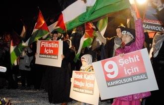 İsrail takımına Gazze protestosu