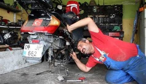 Motosiklet tamircisine matematik şartı
