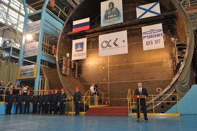 Putin nükleer denizaltıyı denize indirdi