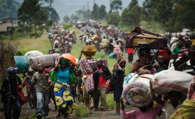 Orta Afrikalı çocuklar DCK'ye sığındı
