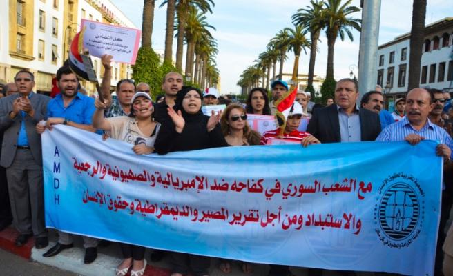 Fas'ta Esad'a destek gösterisi