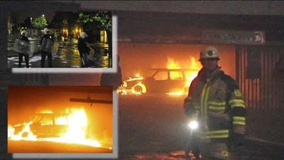 İsveç'te göçmenler araçları ateşe verdi