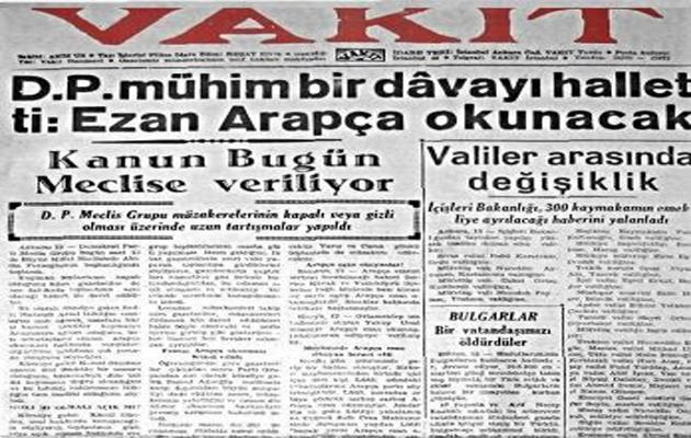 Türkiye'de 18 yıl ezanın aslı yasaktı