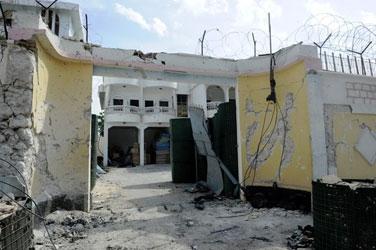 Saldırı sonrası Somali Büyükelçiliği -FOTO