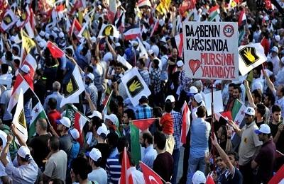Onbinlerce kişi Saraçhane'de Mısır ve Suriye için toplandı