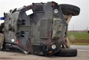 Askeri araç kaza yaptı: 5 asker yaralı