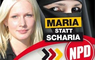 Irkçı partiden bir garip seçim afişi
