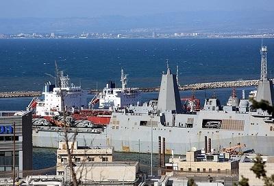 ABD savaş gemisi İsrail'de