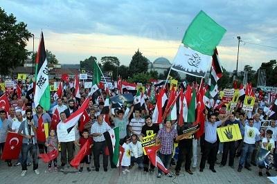 Edirne'de Mısır ve Suriye katliamlarına tepki