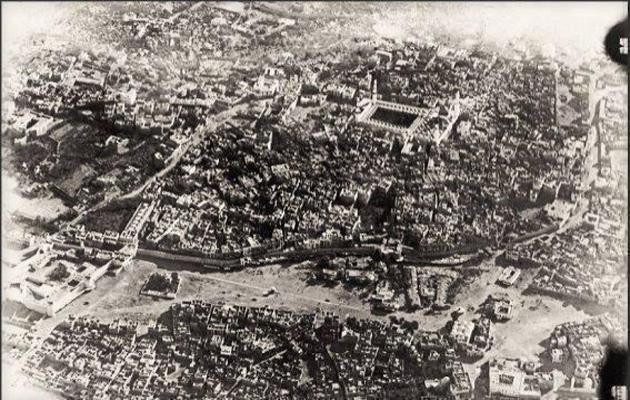 1917'de kuşbakışı Medine...