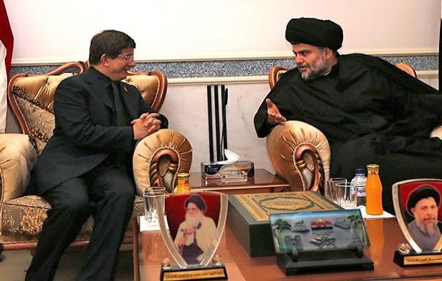 Irak'la yeni sayfa: Davutoğlu Sadr'la görüştü